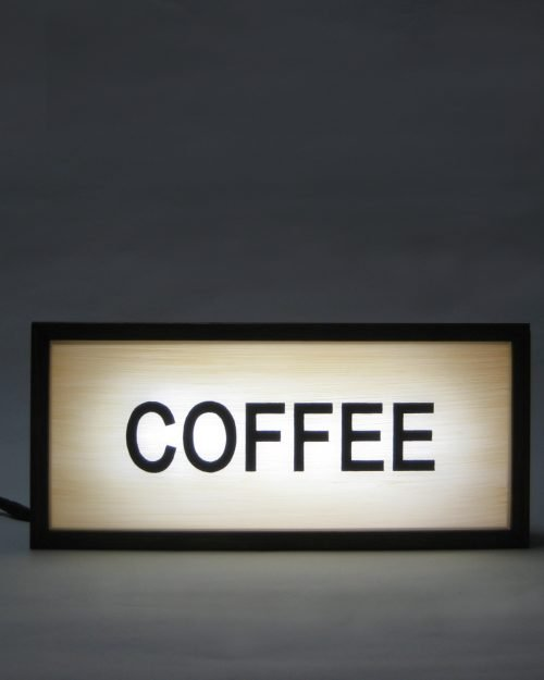 coffee hand painted sign lightbox