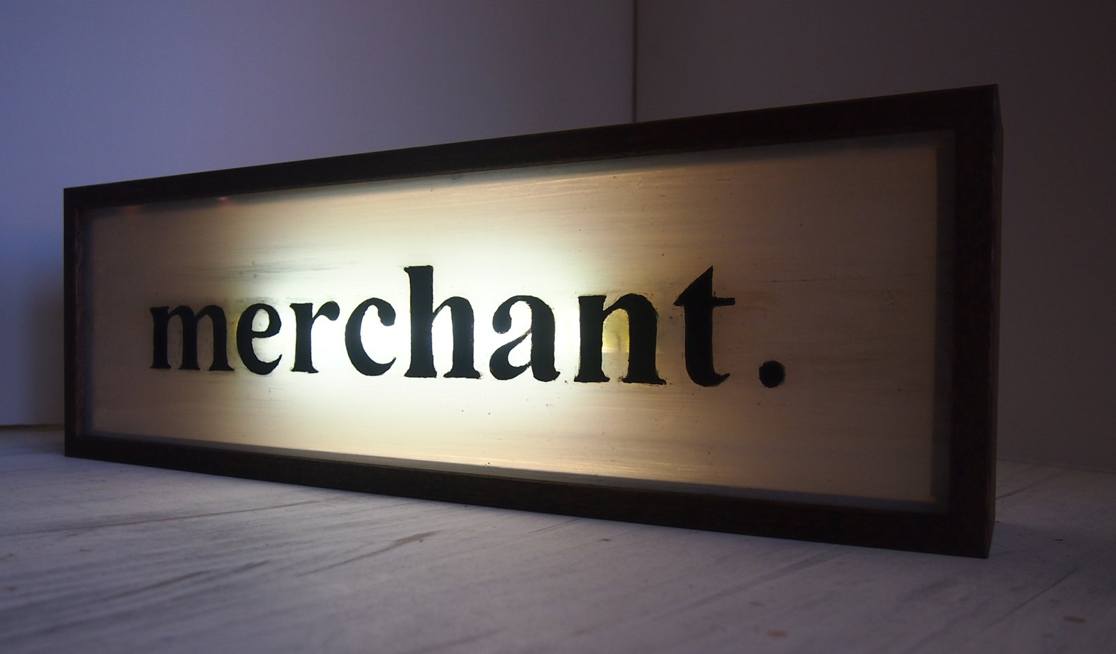 Custom Illuminated Hand Lettering Sign