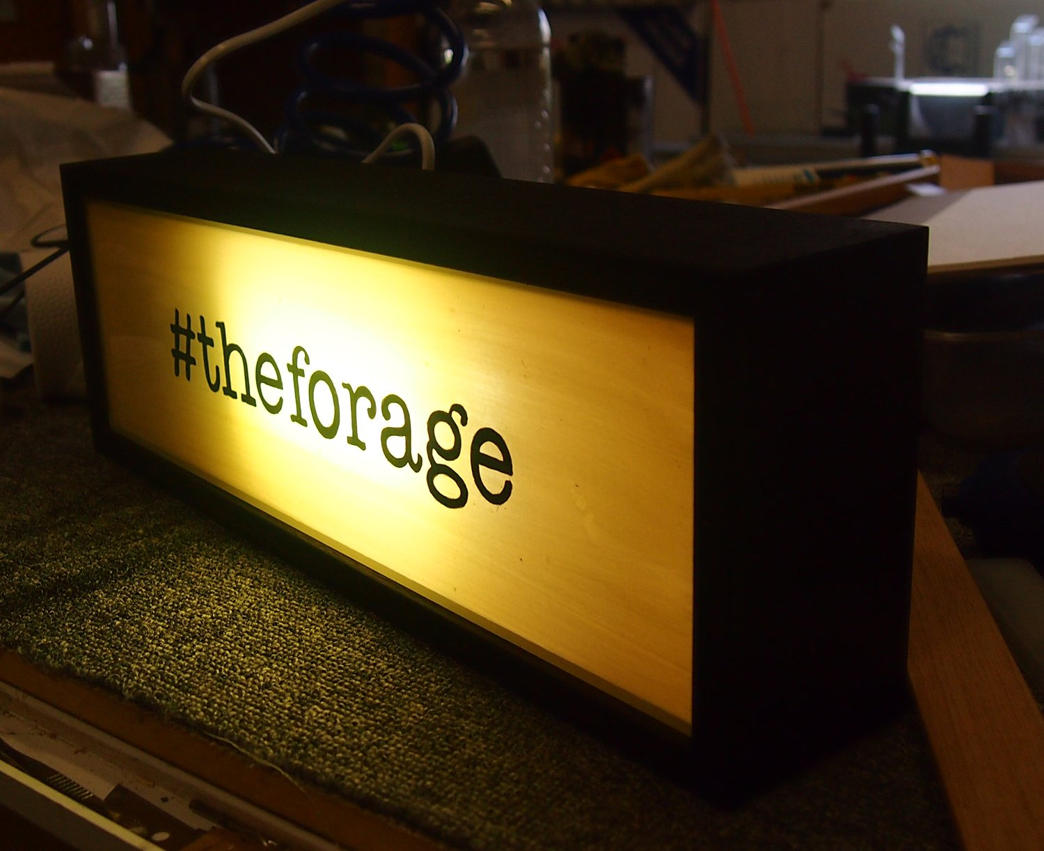 Custom Light Box Sign for The Forage, Canberra