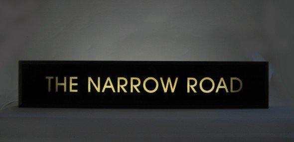 "Custom Make Hand-Painted Sign ""THE NARROW ROAD"""