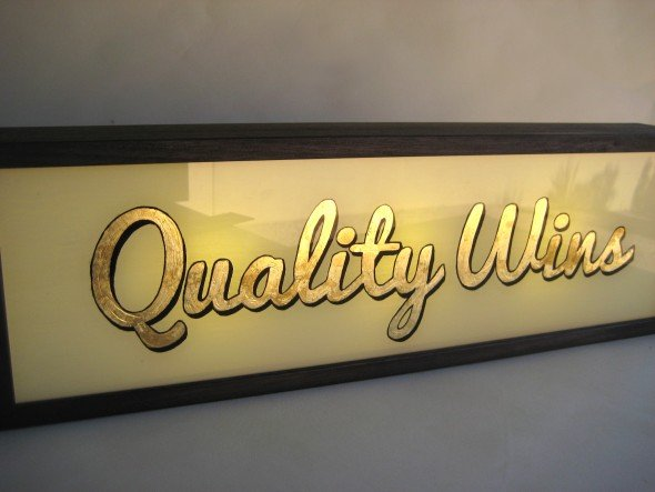 Custom Order Gold Leaf Signs with LightBox