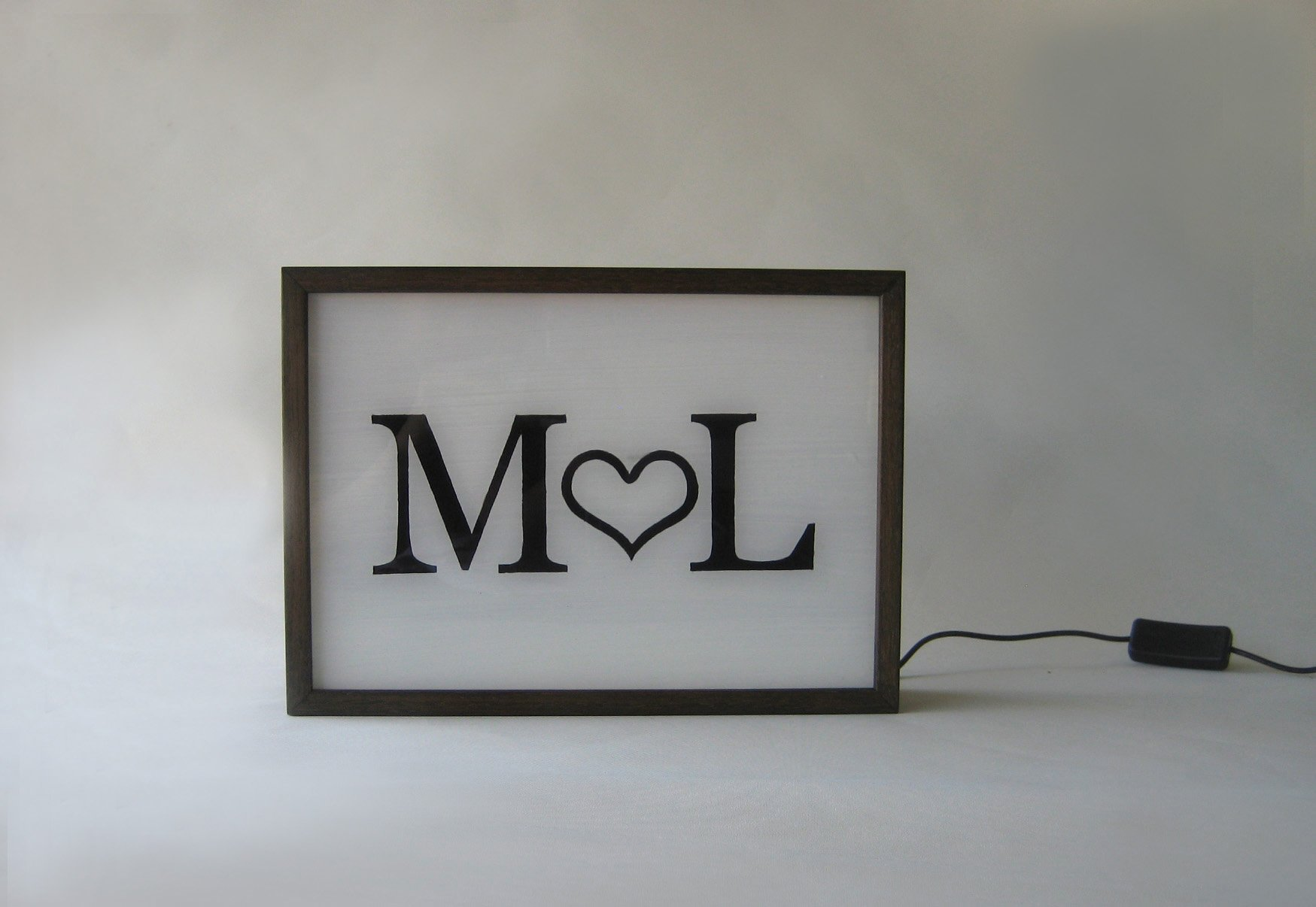 Custom Order Personalized Wedding Signs Name Initial Light Box