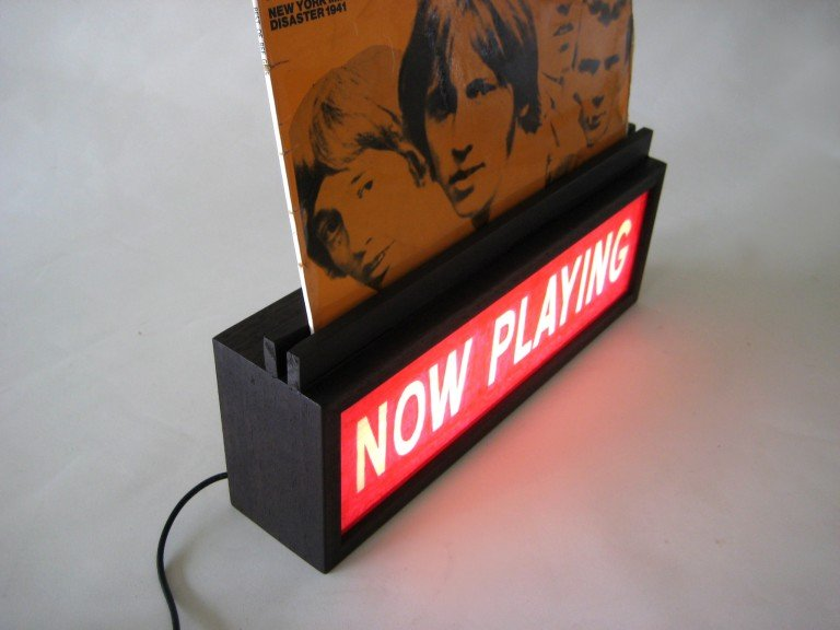 Custom Order Lightbox with Vinyl Record Holder / Stand