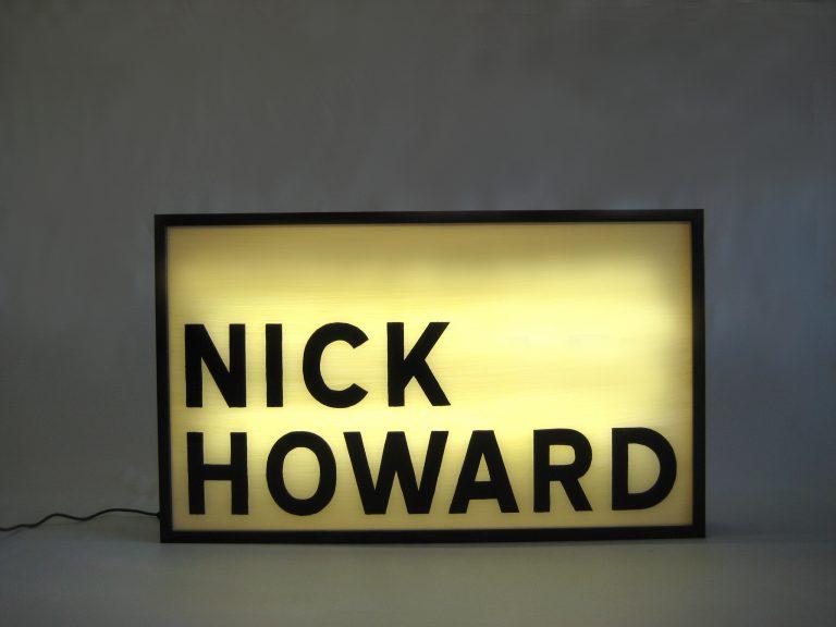 Custom Make Lightbox Hand Painted Sign for Nick Howard