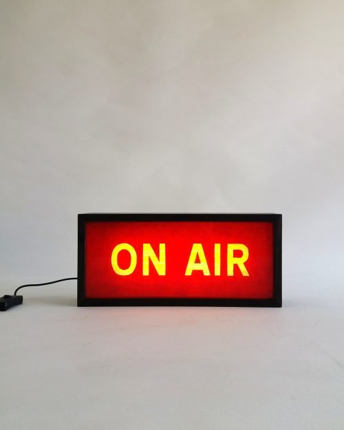 ON AIR Sign in Red
