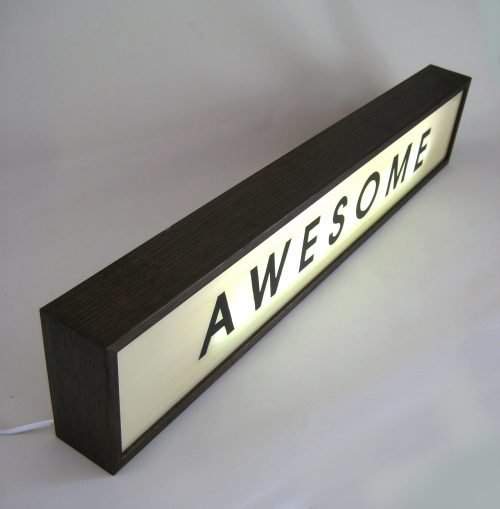 Large 84cm Hand Painted Wooden Light Box AWESOME sign