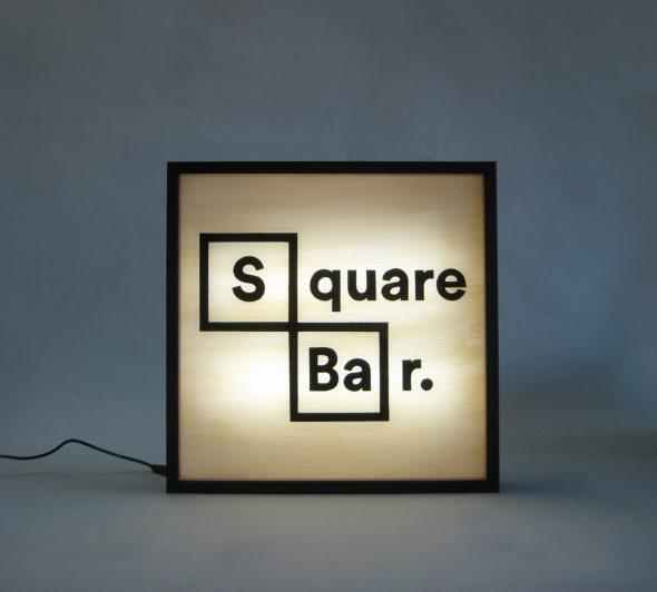 Custom Lightbox Logo Square Bar Delivered to Atlanta, USA