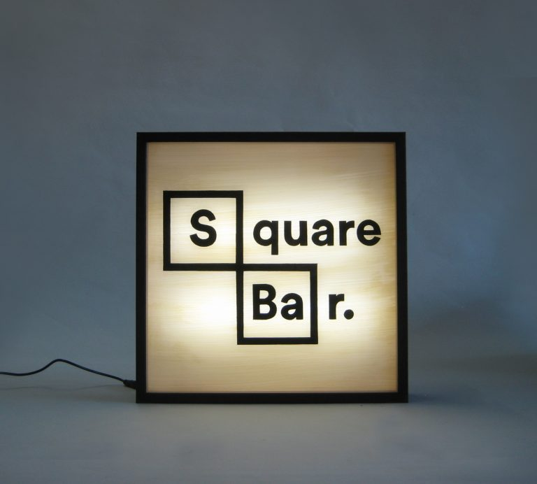 Custom Lightbox Logo Square Bar Delivered to Atlanta, USA