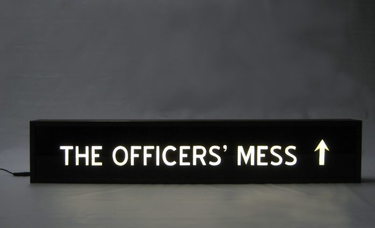 Custom Lightbox Hand Painted Signs THE OFFICERS' MESS Delivered to Sydney