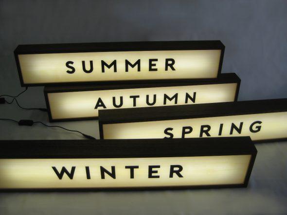 Custom Lightbox Signs 4 Seasons for McGrath Fine Foods, Albury, NSW