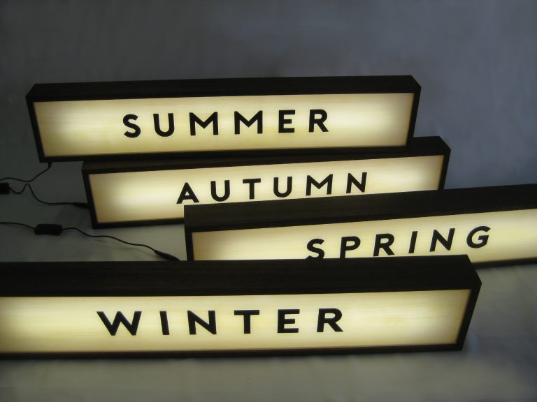 Custom Lightbox Signs 4 Seasons for McGrath Fine Foods, Albury, NSW