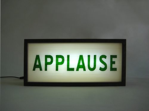 Wooden Lightbox Hand Painted Sign APPLAUSE
