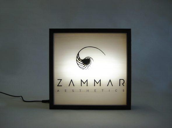 Custom Lightbox Signs Zammar Aesthetics logo for Zammar Aesthetics, Western Australia