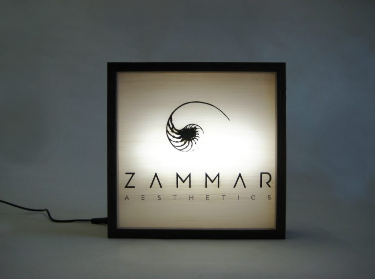 Custom Lightbox Signs Zammar Aesthetics logo for Zammar Aesthetics, Western Australia