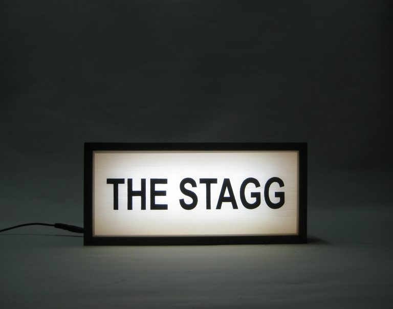 Custom Light Box THE STAGG Personalised Family Name