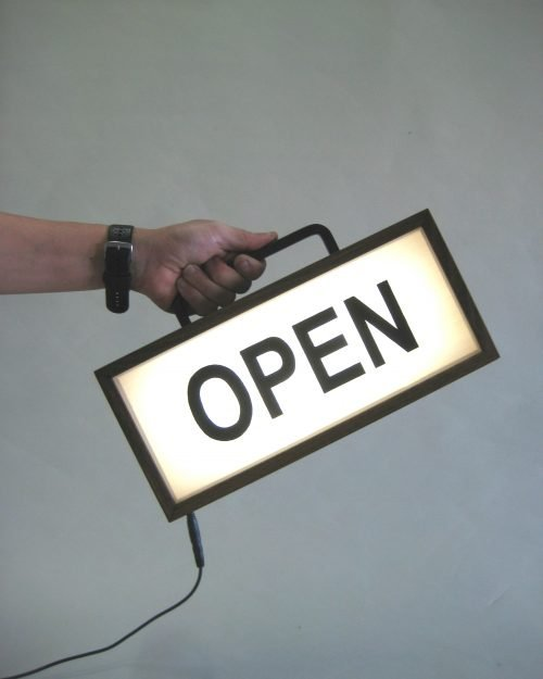 Open Sign (with Handle)