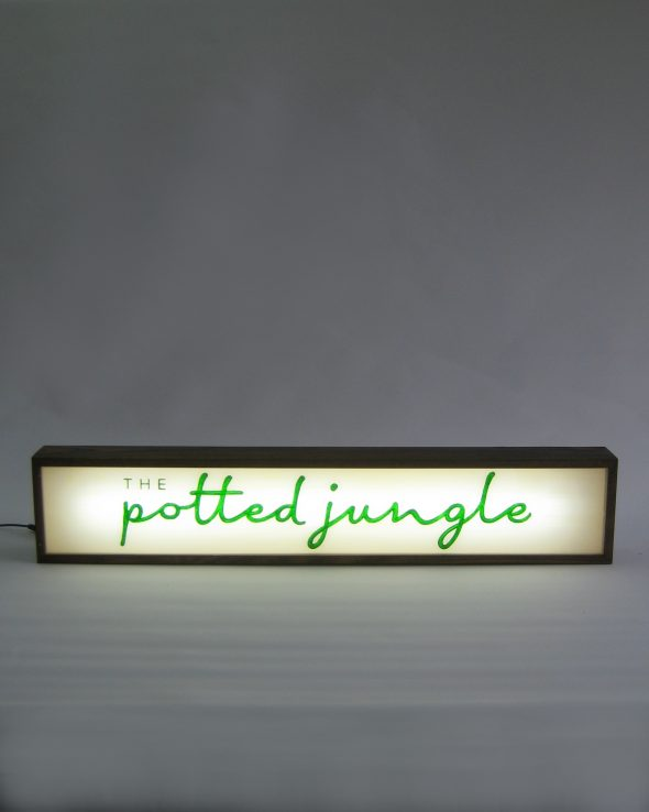 Custom Business Sign for The Potted Jungle, Tasmania