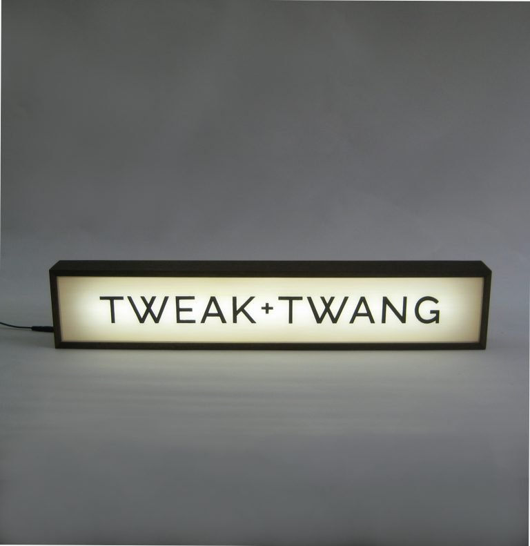 Custom Lightbox Signs For Tweak + Twang