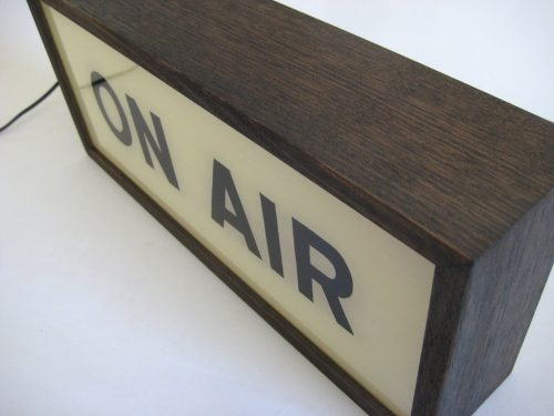 vintage lightbox on air sign