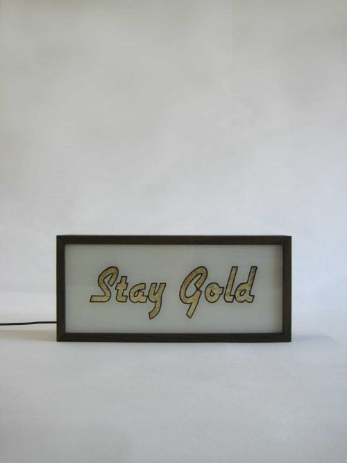 Stay Gold Gold Leaf Sign 2