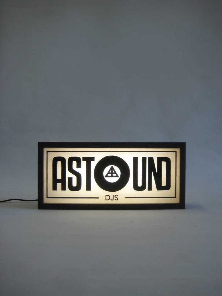 Custom Logo Lightbox for Astound DJs