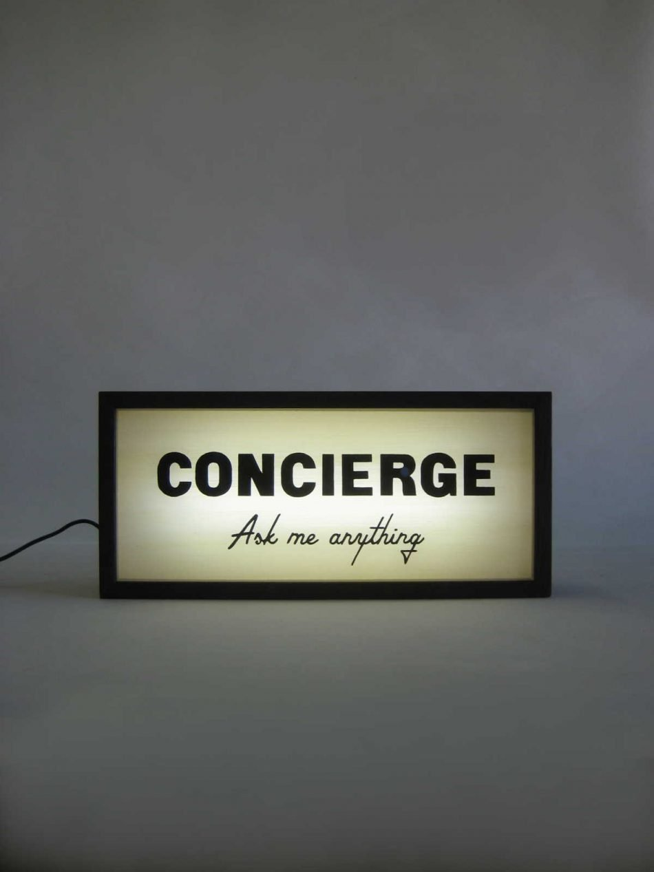 Custom Concierge Lightbox Sign