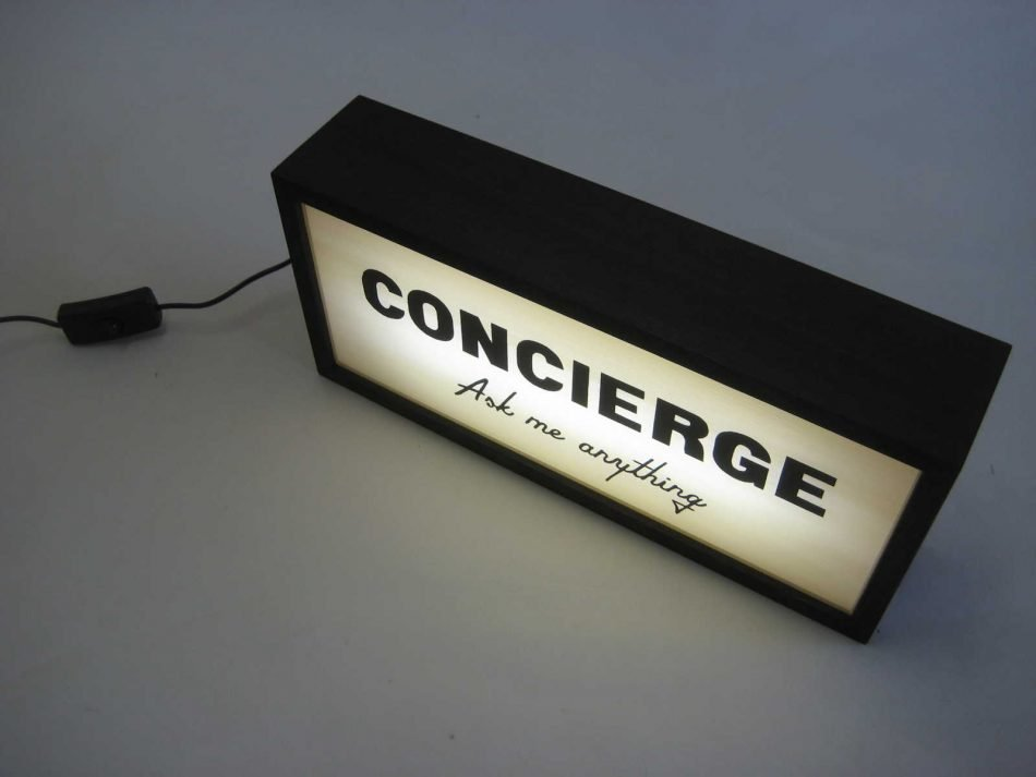 Concierge Lightbox Sign
