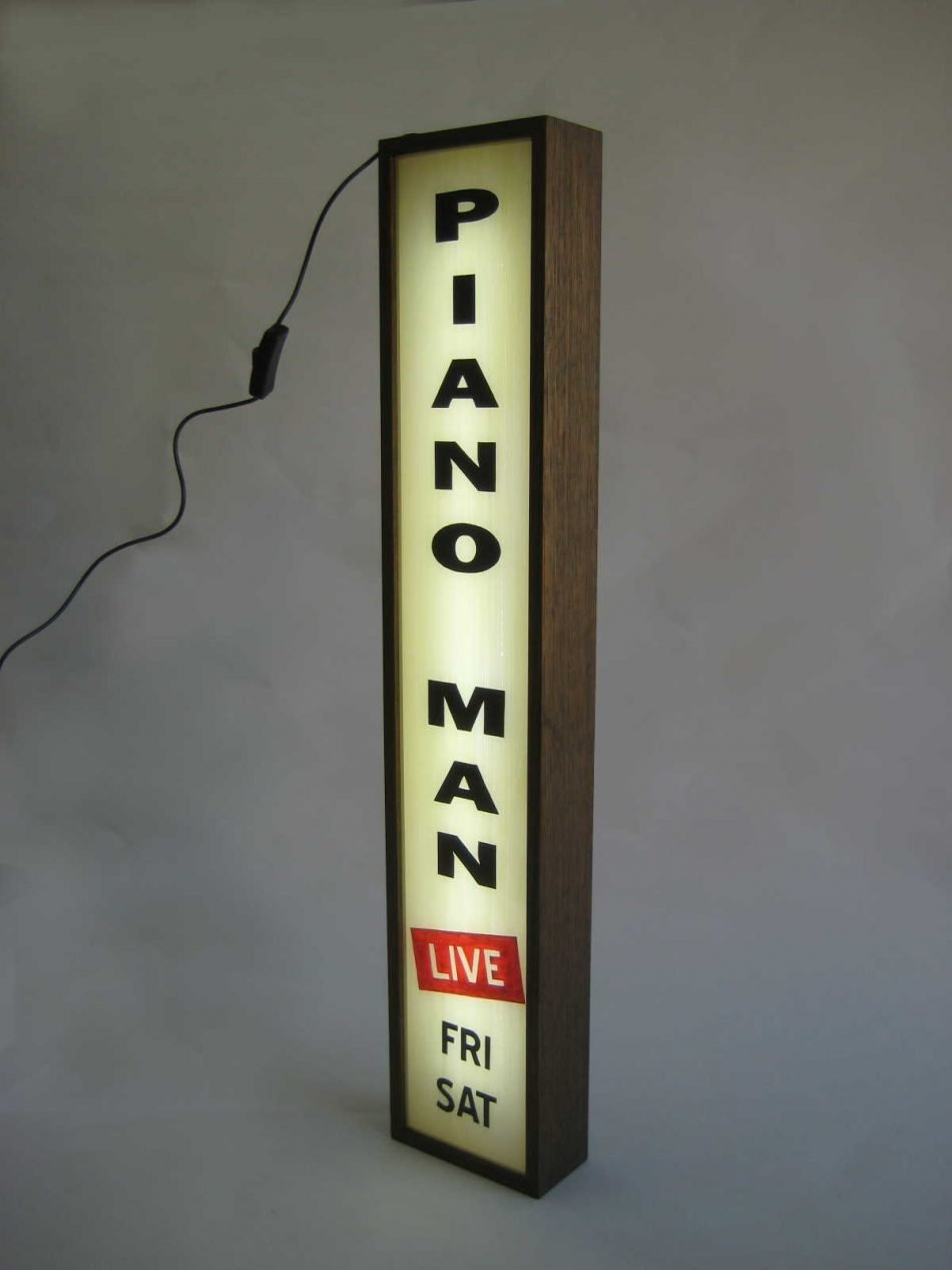Piano Man Light Box Signs