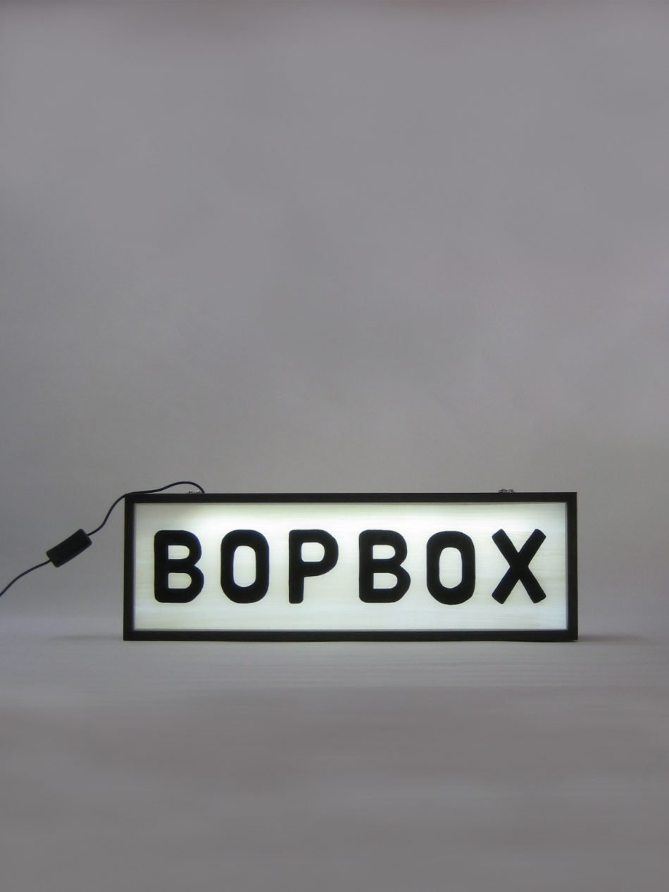 Custom BOPBOX Logo Double Sided Lightbox Signs