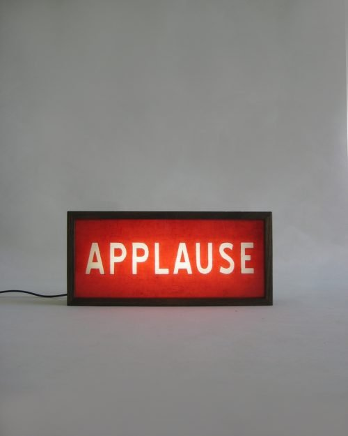 Red APPLAUSE Sign