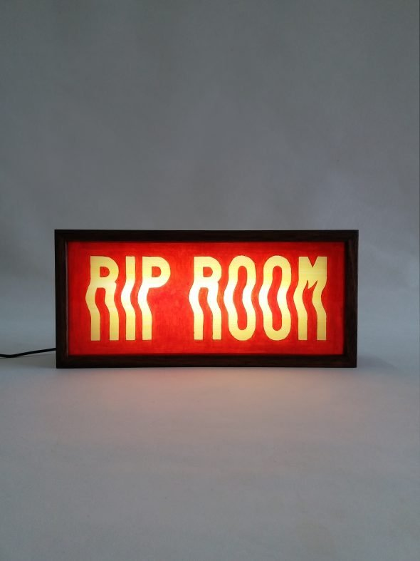 Custom Lightbox Signs RIP ROOM for Jackie Cantwell