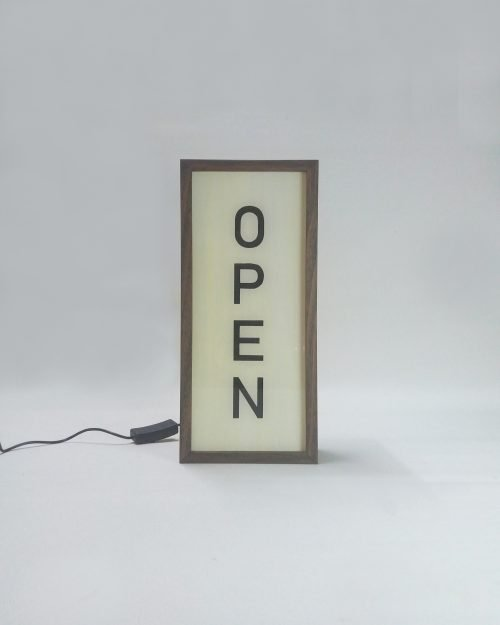 OPEN Sign Vertical