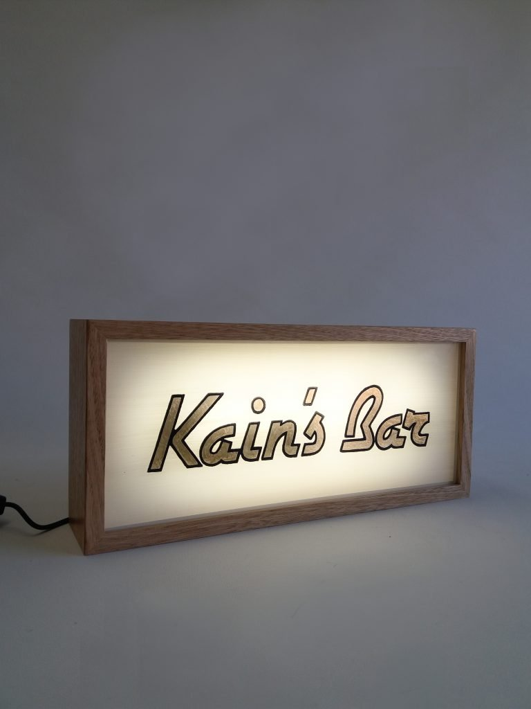 Custom Gold Leaf Signage Lightbox