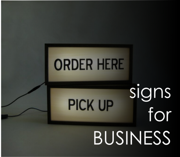 signs for business