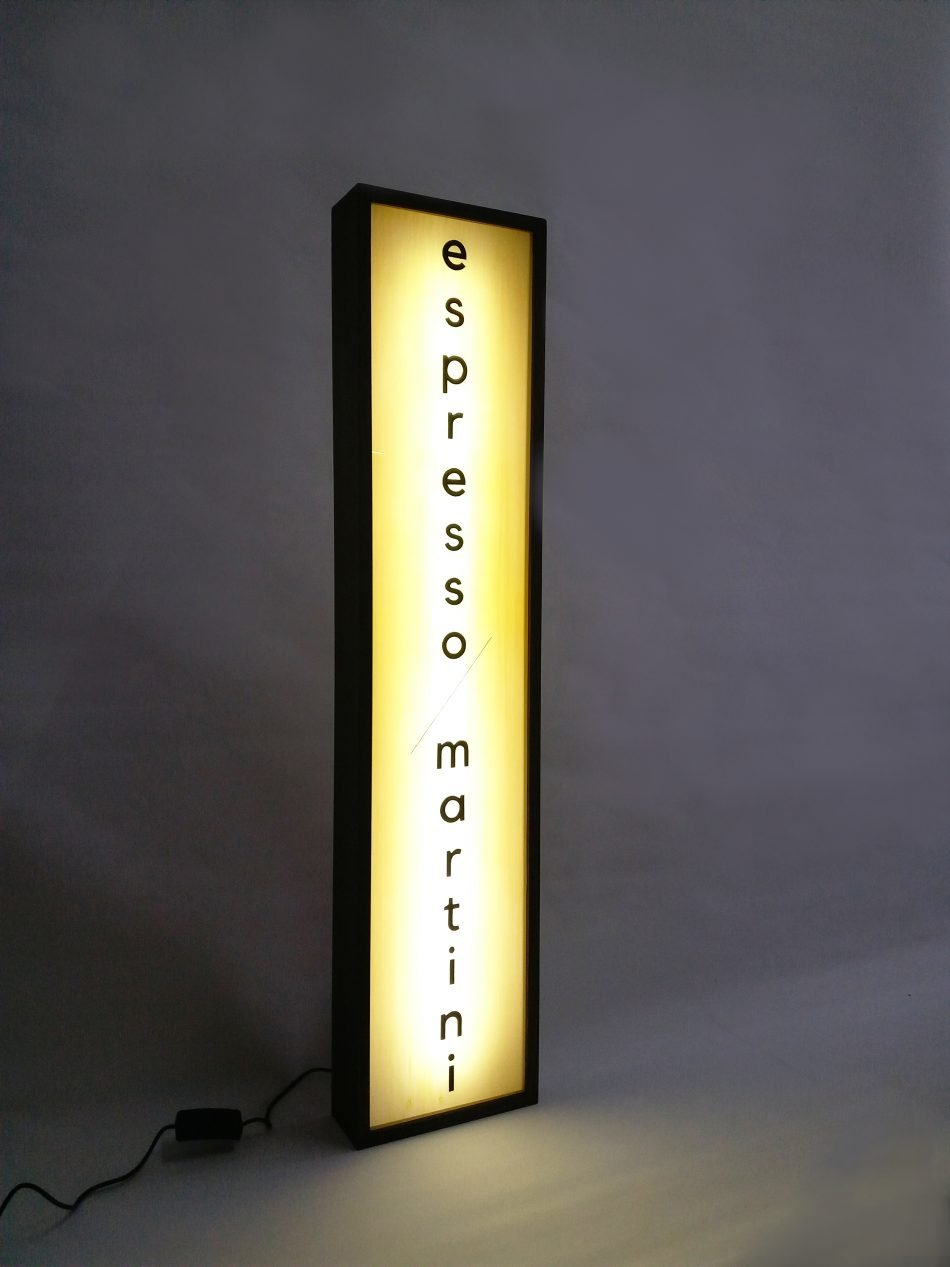 Custom Lightbox Signs Espresso/Martini