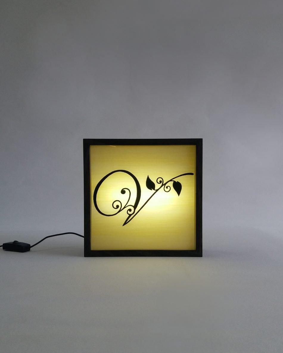 V Wine Salon Logo Sign Lightbox