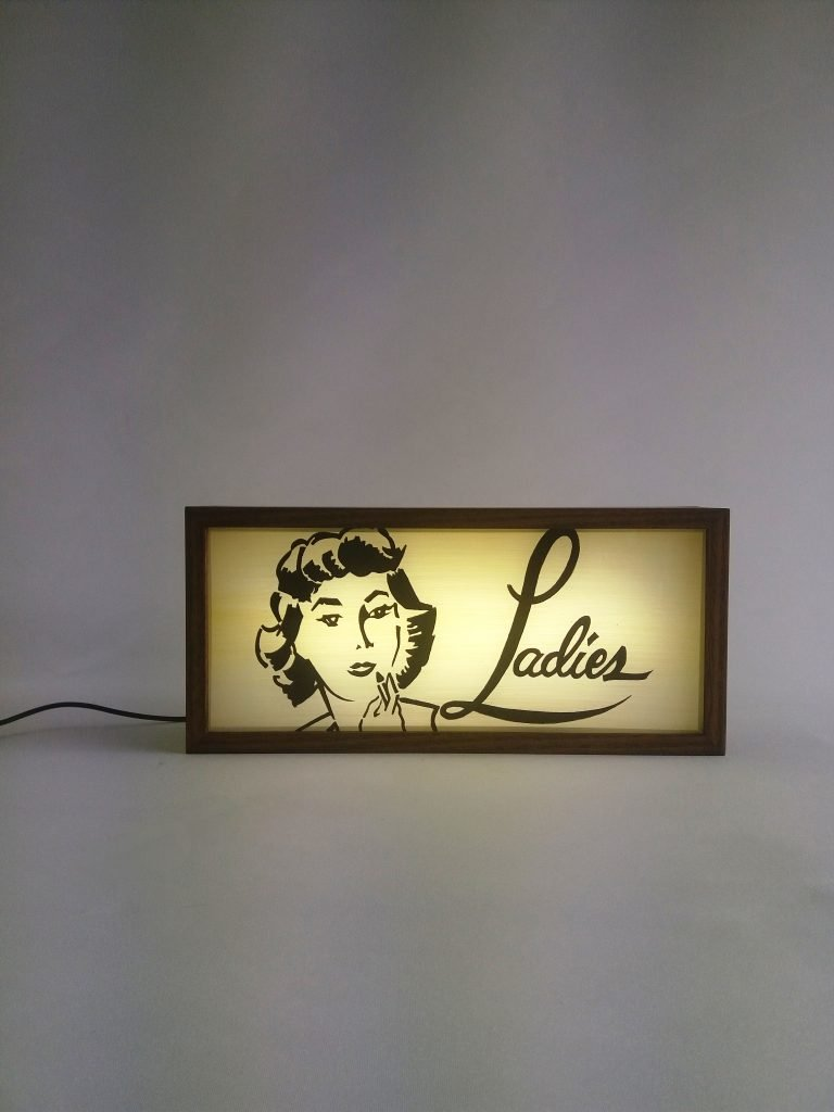 Reproduction Vintage Ladies Lightbox Sign