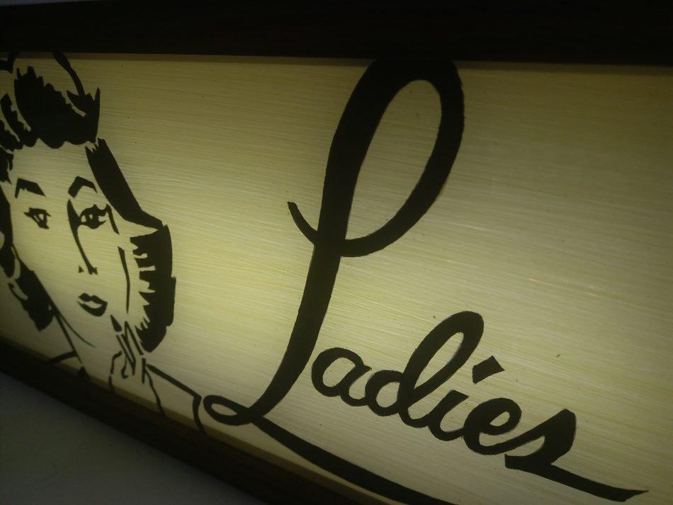 Reproduction Vintage Ladies Lightbox
