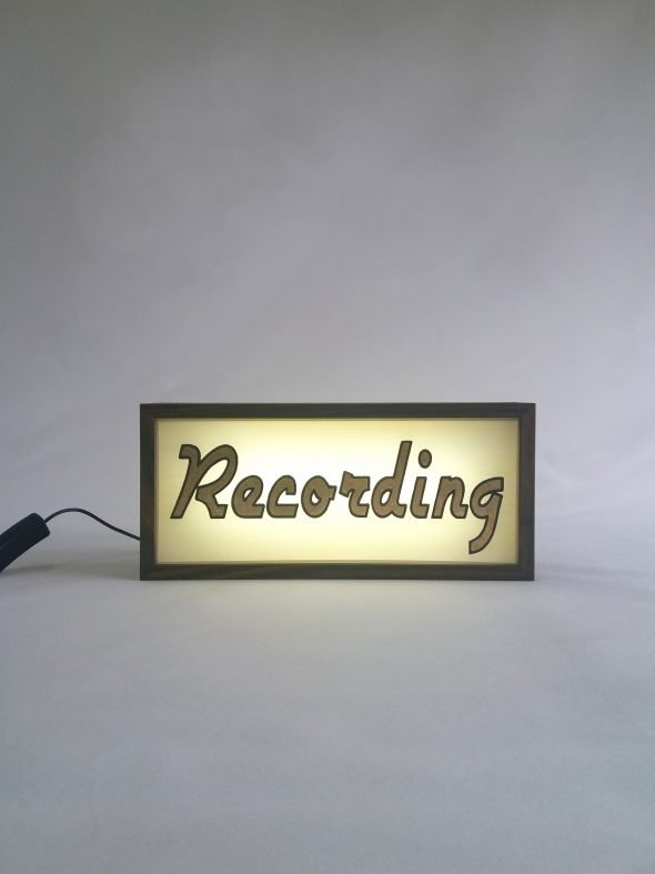 Custom Gold Leaf Recording Sign Lightbox