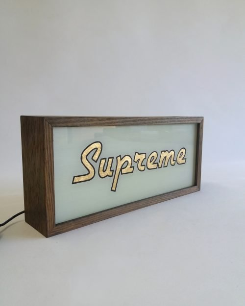 SUPREME Gold Leaf Sign