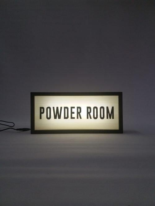 Powder Room Lightbox Sign