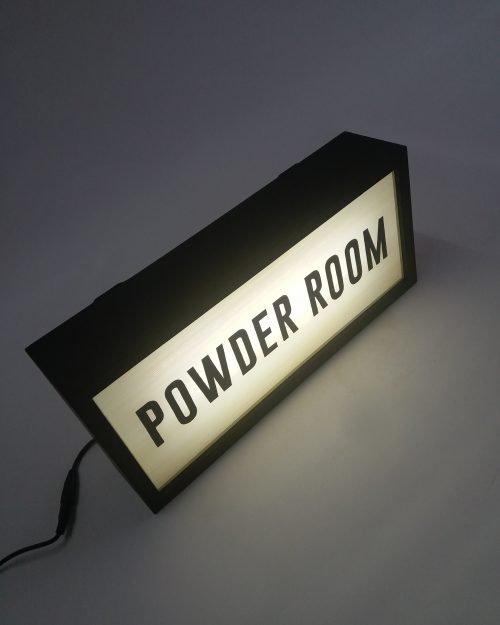 Powder Room Sign