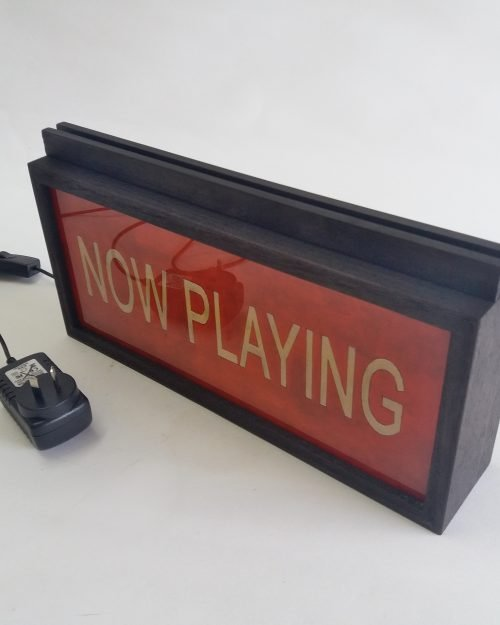 NOW PLAYING in Red – Vinyl Record Stand / Holder